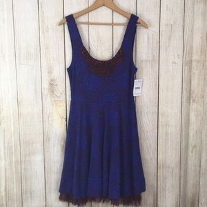 Free People Midnight Beaded Front Dress Small